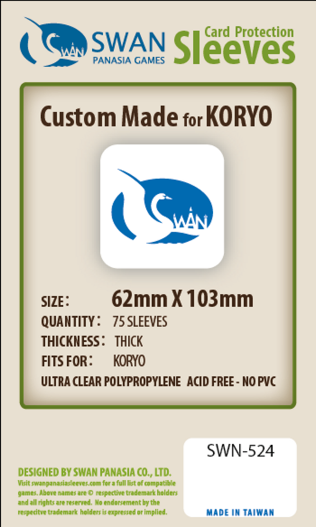62x103mm - 75 Pack, Thick/Premium Sleeves - Koryo (SWN-524)