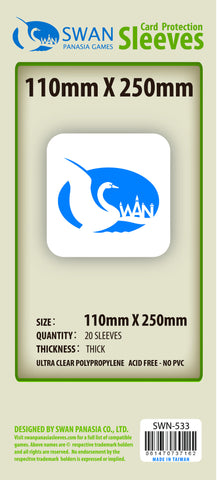 110x250mm - 20 Pack, Thick Sleeves