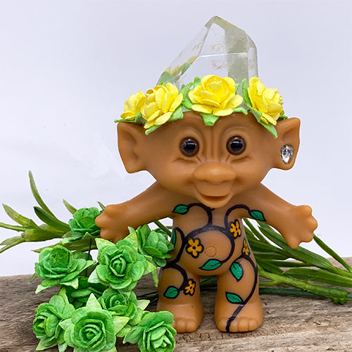 Polished Crystal Troll Doll