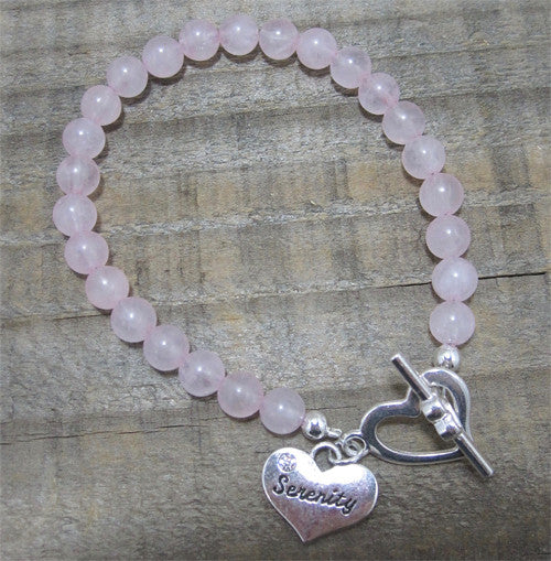 "Rose Quartz Serenity Bracelet - ""Relationships"" - Ferris Arts"