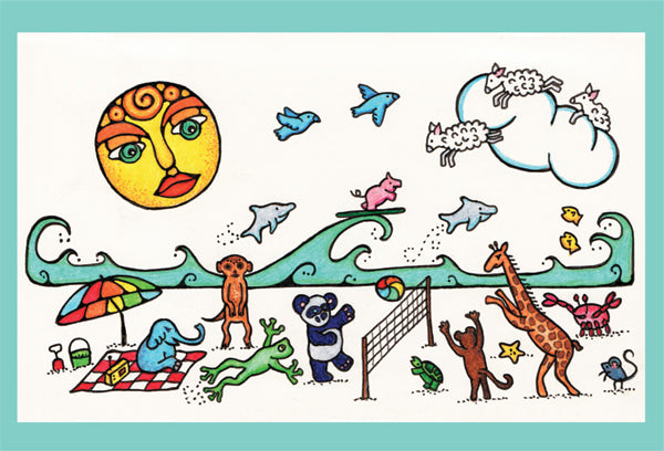 Beach Party Animals - Greeting Card - Ferris Arts