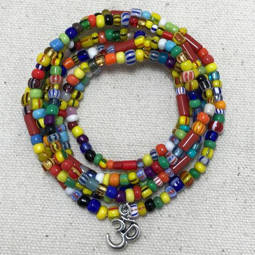 "African Mix - ""Boho Om"" - Stretch Beaded Bracelet - Ferris Arts"