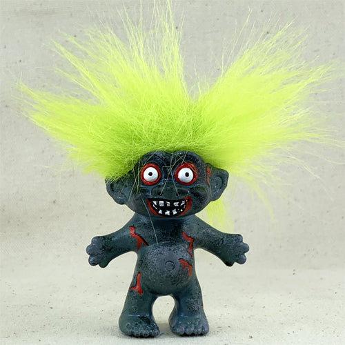 Zombie Hand Painted Troll Doll - Ferris Arts