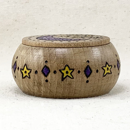 Round Moon Box - Dark - Ferris Arts