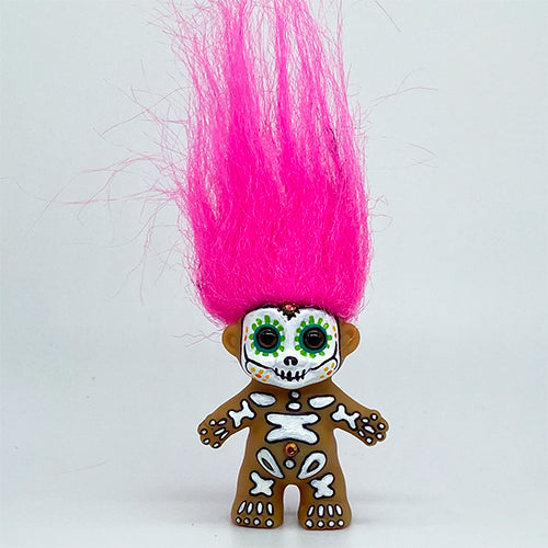 Day of the Dead Baby Troll Doll