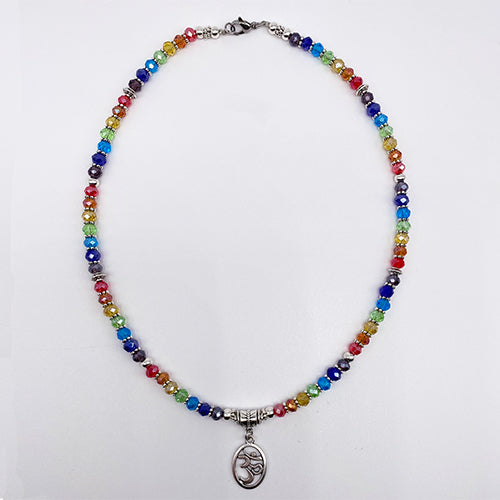 Om Crystal Chakra Necklace - Ferris Arts