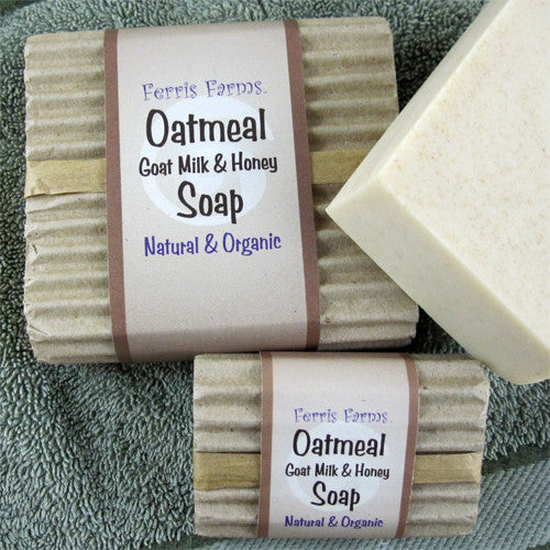 Organic Oatmeal Goat Milk & Honey Soap - Large and Guest Set - Ferris Arts