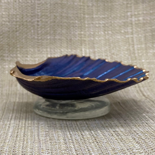 Scallop Shell Jewelry Holder - Blue