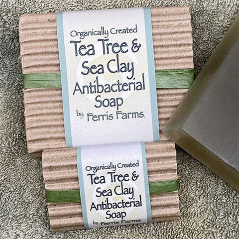 Tea Tree & Sea Clay Antibacterial Soap - Large and Guest Soap Set - Ferris Arts