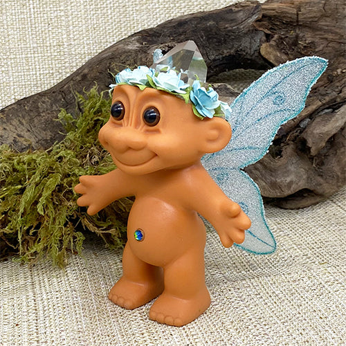 Enchanted Crystal Fairy Troll Doll - Teal