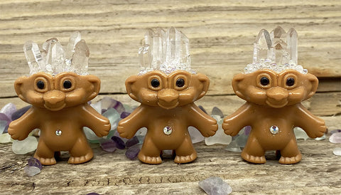 Quartz Crystal Troll Doll - Ferris Arts