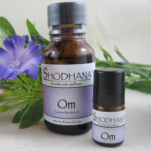 Om Essential Oil by Shodhana - 15 ml Bottle, plus bonus Roller Ball - Ferris Arts