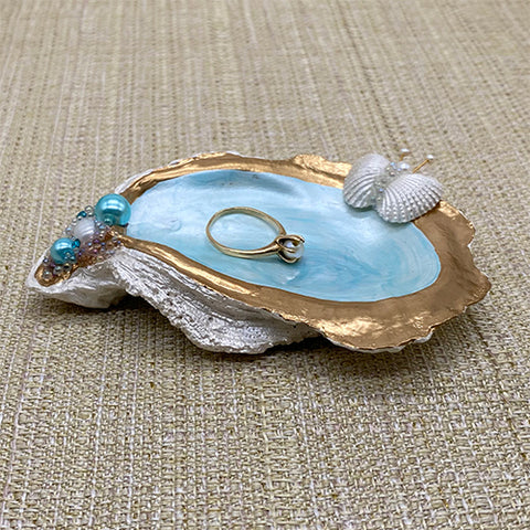 Pearl White Oyster Shell Jewelry Holder