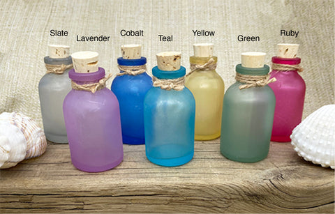 Sea Glass Apothecary Bottles
