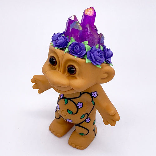 Purple Crystal Troll Doll