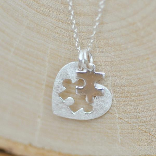 Puzzle Pieces For Autism Awareness Necklace Jamber Jewels