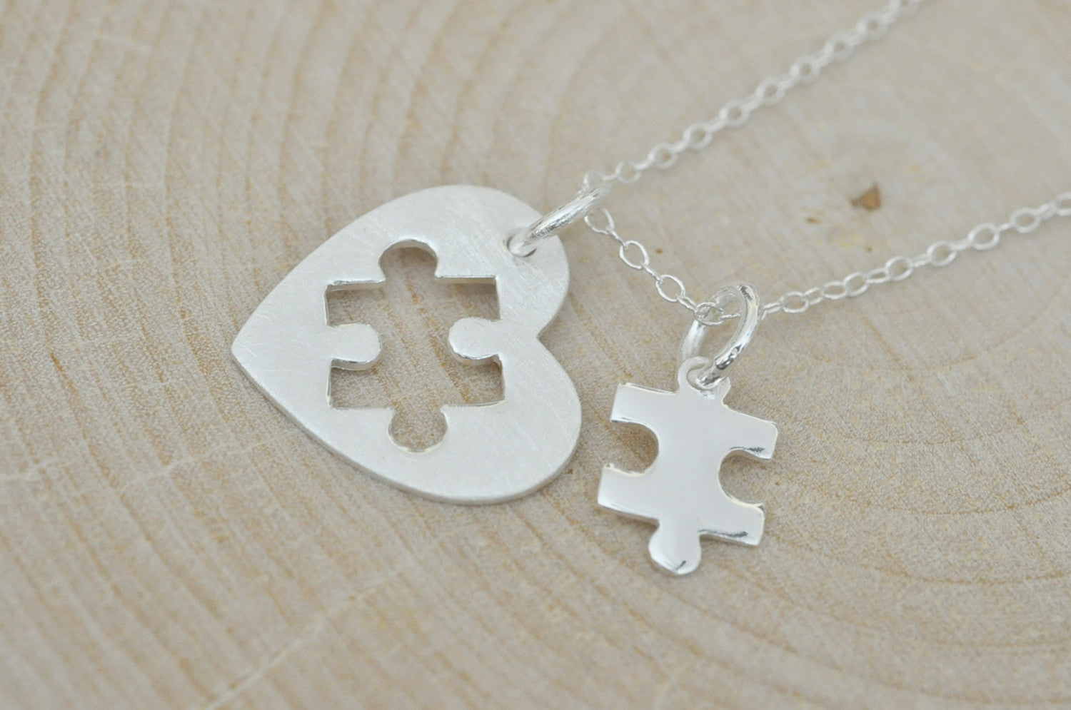 puzzle piece his one necklace only her set uniqjewelrydesigns personalized