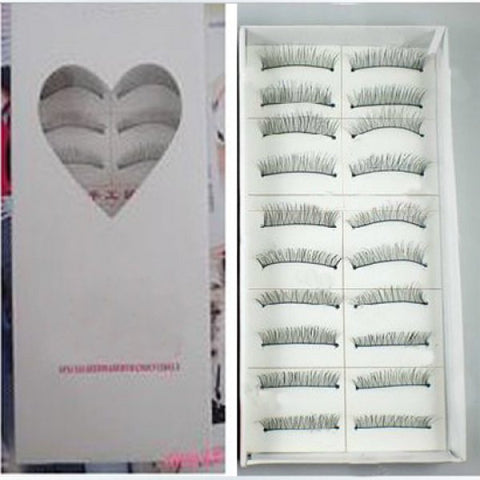 Korean Hot Sale 10 Pairs Professional Makeup Party Artificial Eyelashes