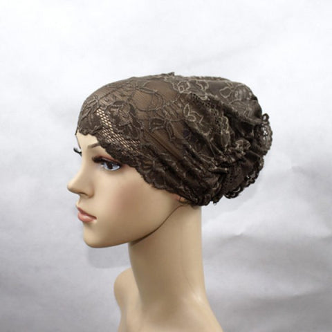 Exquisite Flowers Decorated lace Openwork Headband For Women