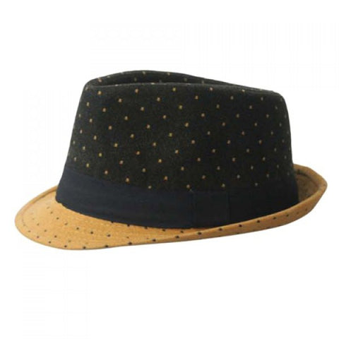 Chic Polka Dot Print Black Lacing Decorated Hat For Women