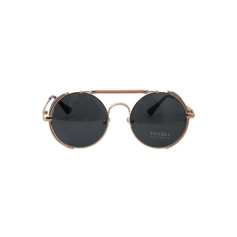 Chic Chain Alloy Round Frame Sunglasses For Women