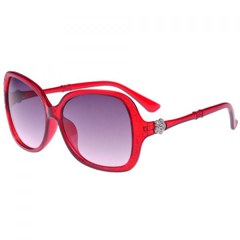 Stylish Women's Embossment and Flower Embellished Sunglasses