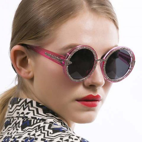 Chic Hollow Out Alloy Transparent Frame Sunglasses For Women
