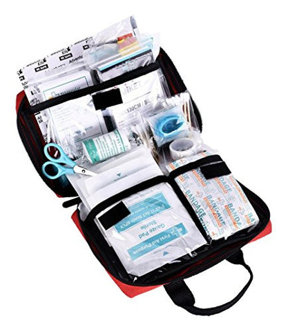 REEBOW TACTICAL GEAR 115 Piece First Aid Kit Medical Supply Survival Gear Bag for Car Home Office Outdoor Camping Hiking Travel Sports Earthquake Emergency Kits