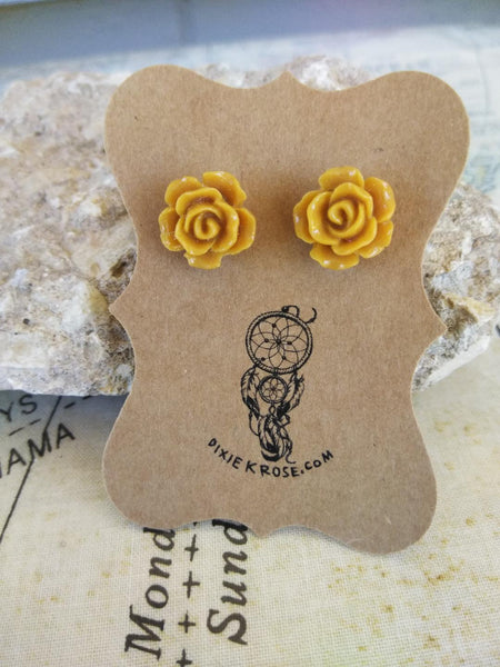 Caramel Rose Earrings