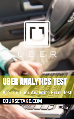 Uber Analytics Excel/CSV Test Book Now Available on Amazon