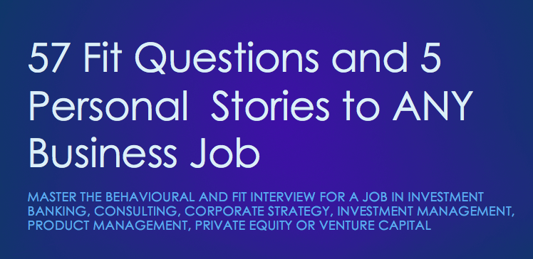 Fit Interview Series: 57 Fit Questions and 5 Personal Stories to ANY Job