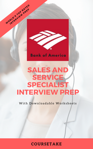 Bank of America Sales and Service Specialist Interview Preparation Study Guide
