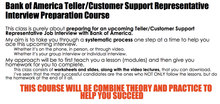 Bank of America Teller/Customer Support Representative Interview Preparation