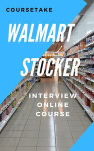 Walmart Stocker, Backroom and Receiving Associate Interview Preparation Online Course