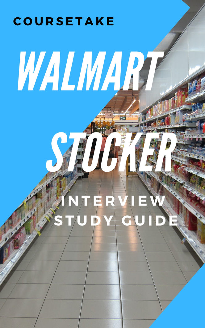 Walmart Stocker, Backroom and Receiving Associate Interview Preparation Study Guide