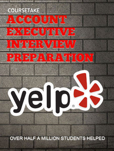 Yelp Account Executive Interview Preparation Course (with Workbook)