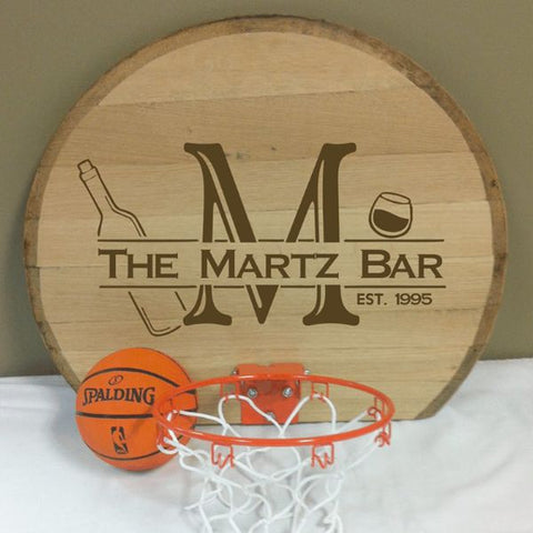 Bourbon Basketball Barrel Head