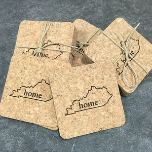 Cork Coaster Set - Home.
