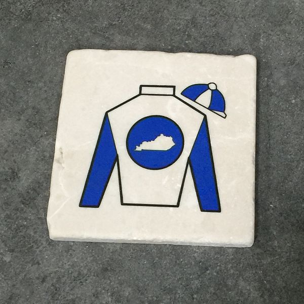 Jockey Blues Sandstone Coaster