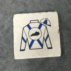 Jockey Stripes Sandstone Coaster