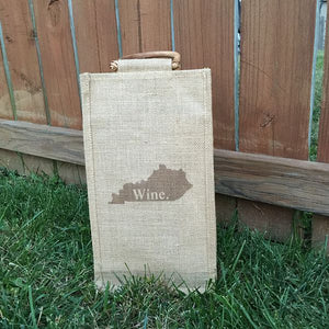 Double Wine Jute Bag