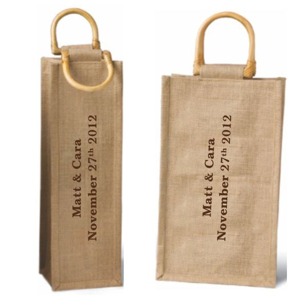 Wine Bag Jute Set