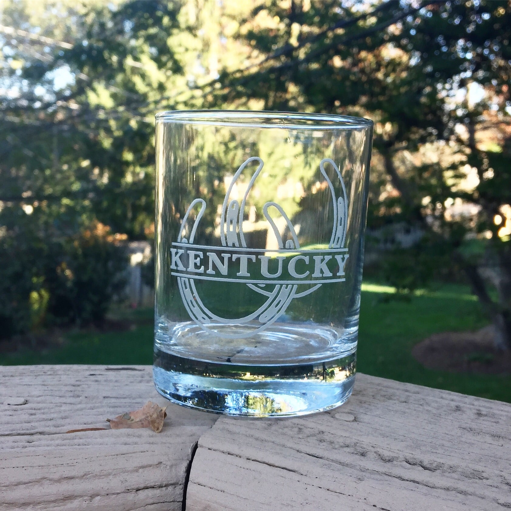 Kentucky Horseshoe Glass