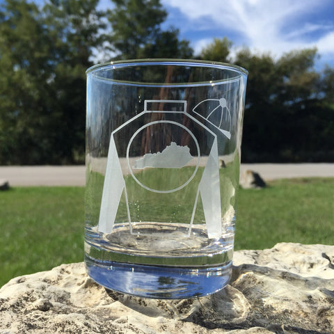 Jockey Silks Filled Bourbon Glass