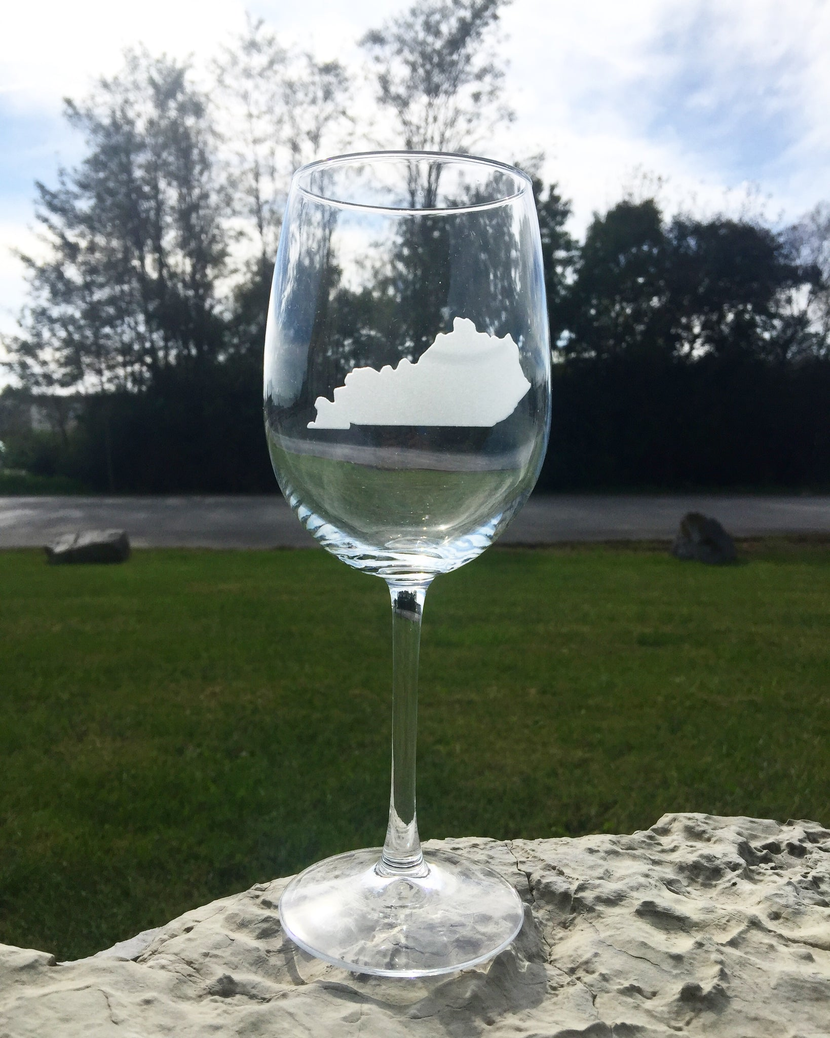 Stemmed Wine Glass - State