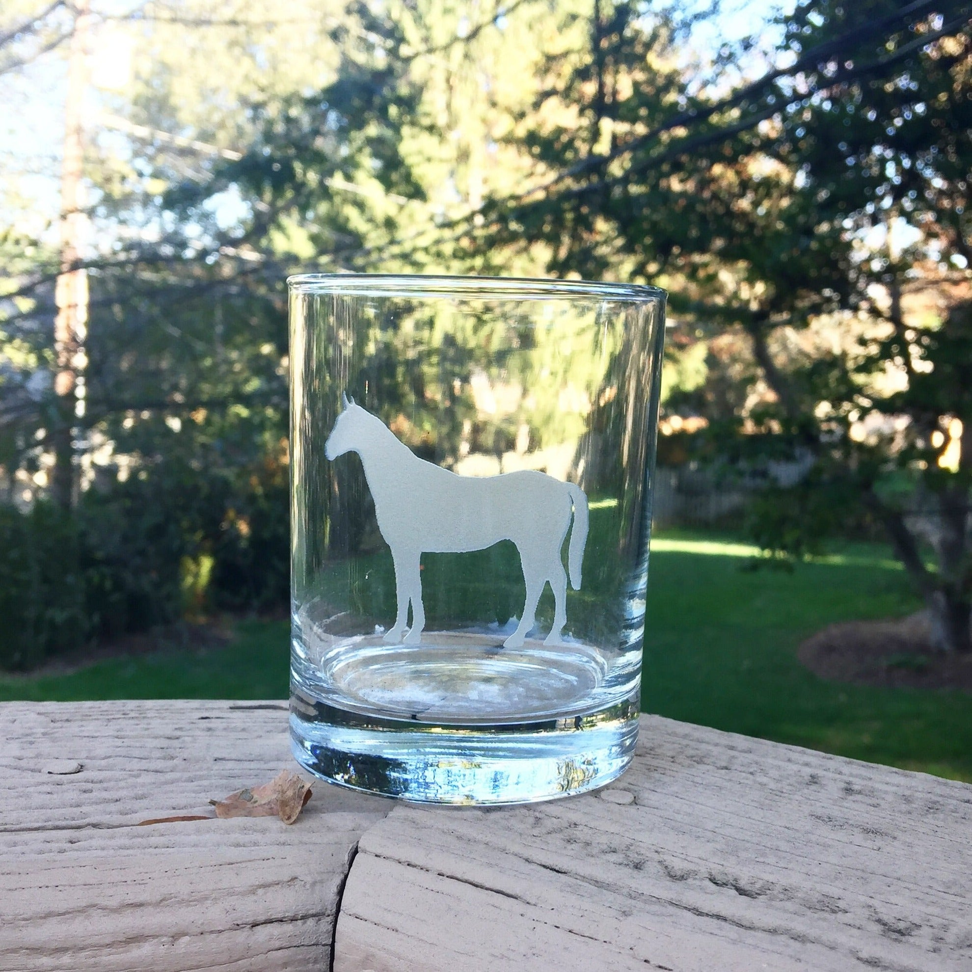 Horse Bourbon Glass