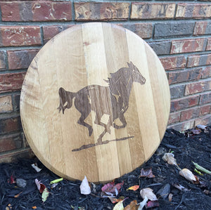 Bourbon Horse Barrel Head