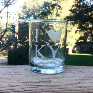 I (Heart) KY Bourbon Glass