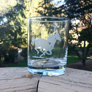 Running Horse Bourbon Glass