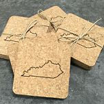 Cork Coaster Set - State Outline